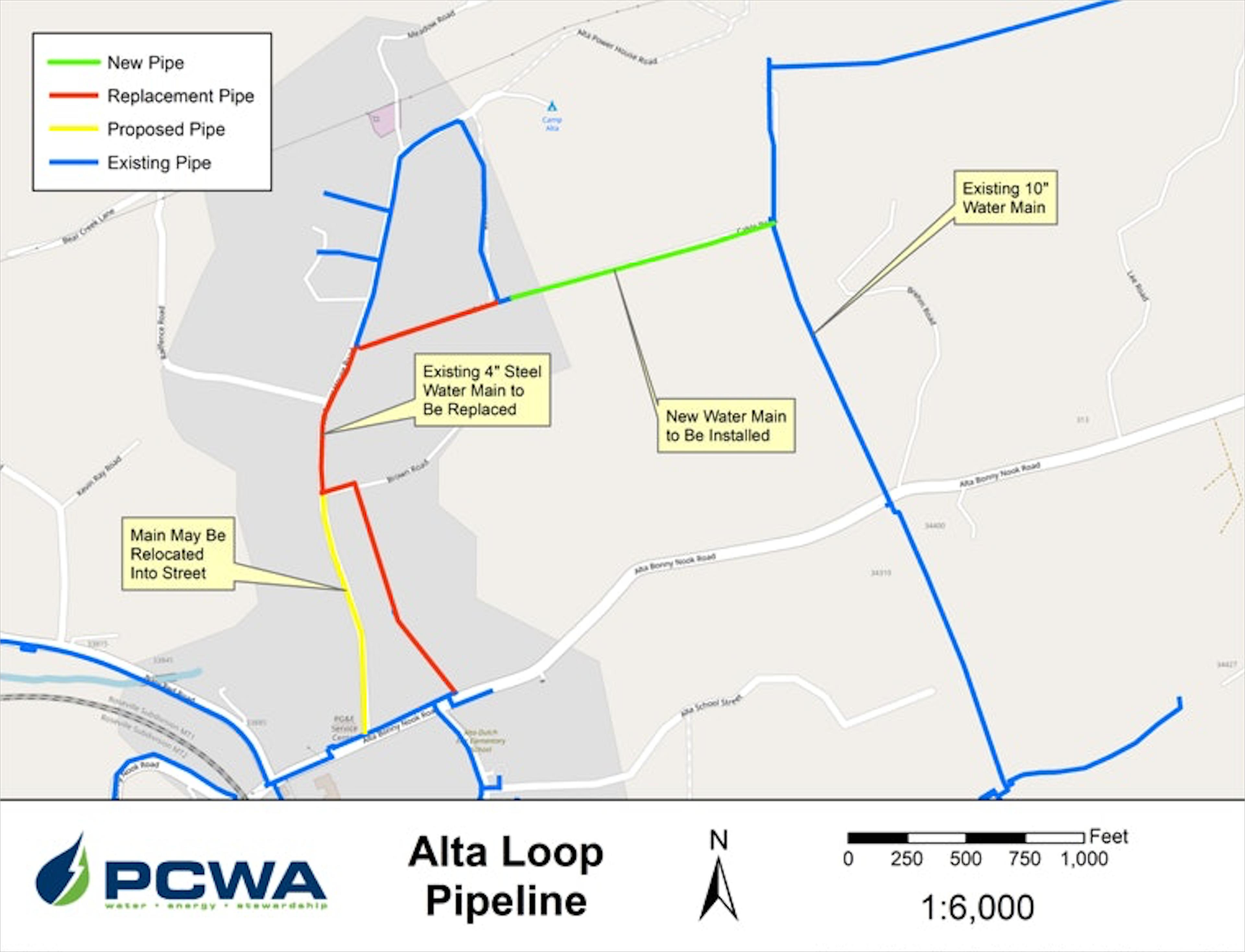 Map Figure of Alta Loop Pipeline Project