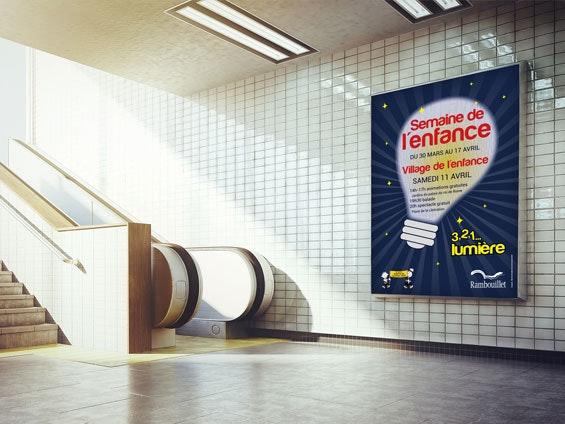 Affiche couloir de métro
