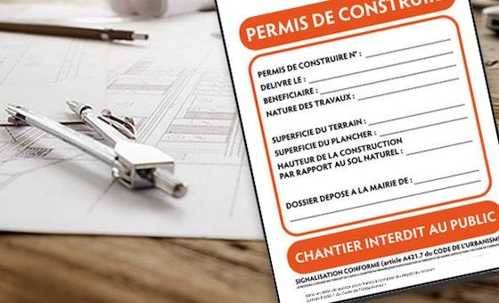 Imprimez vos panneaux d'affichage de permis de construire sur Akilux ou Alu-Dibond Avec 123Panneaux