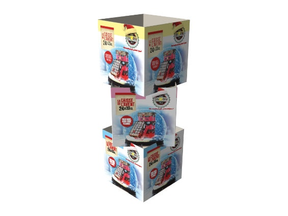 PLV totems cubes