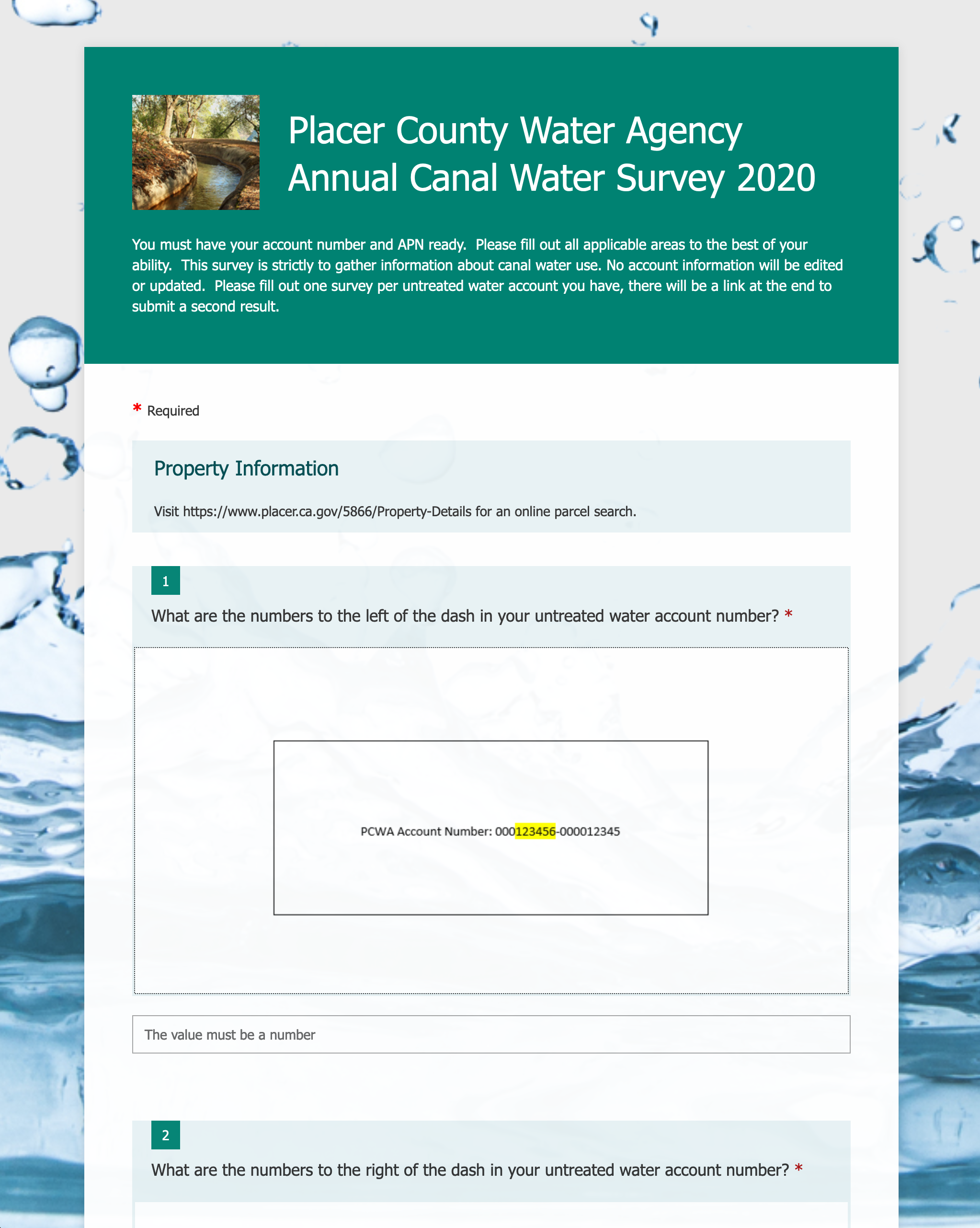 Online Canal Survey thumbnail and link