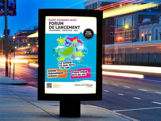 affiche 120x160 (ou 118 x 158) station de bus