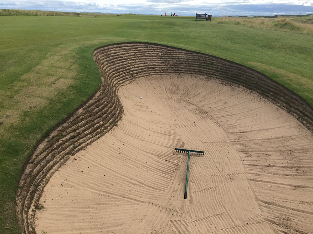 Golf Course Bunker With Rake