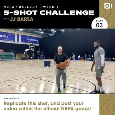 NBPA x Ballogy 5-Shot Challenge: J.J. Barea