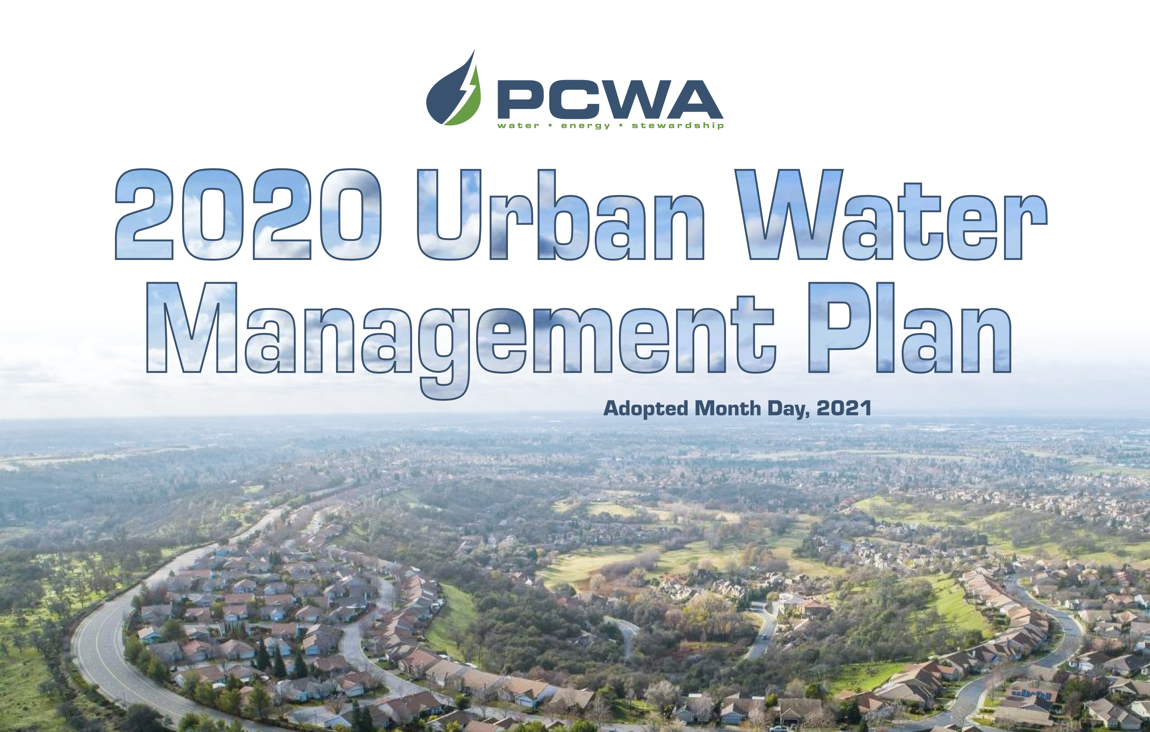 Thumbnail and link for PCWA 2020 Urban Water Management Plan, public draft