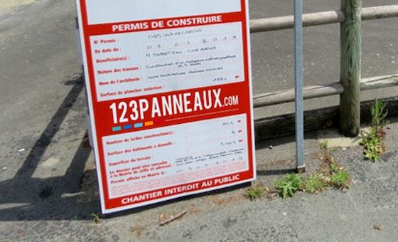 Imprimez vos panneaux d'affichage de permis d'aménager sur Akilux ou Alu-Dibond Avec 123Panneaux