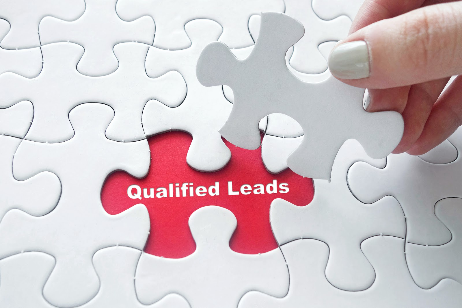 Lead generation: puzzle piece reveals qualified leads