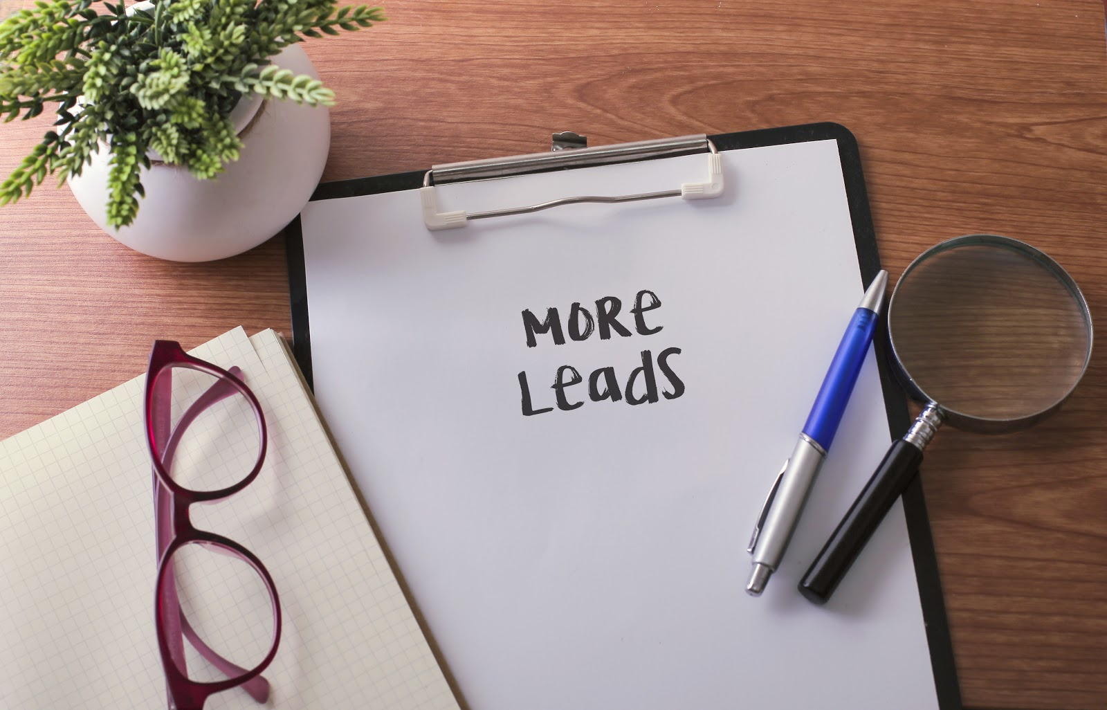 "Blank paper labeled ""more leads"""