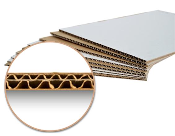 Carton double micro cannelure