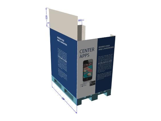 PLV box de palette carton