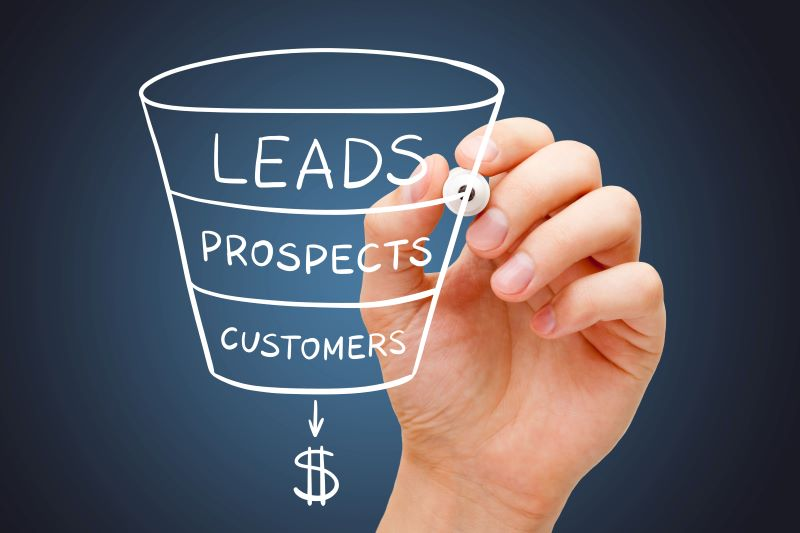Lead generation strategies: Hand drawing of lead funnel