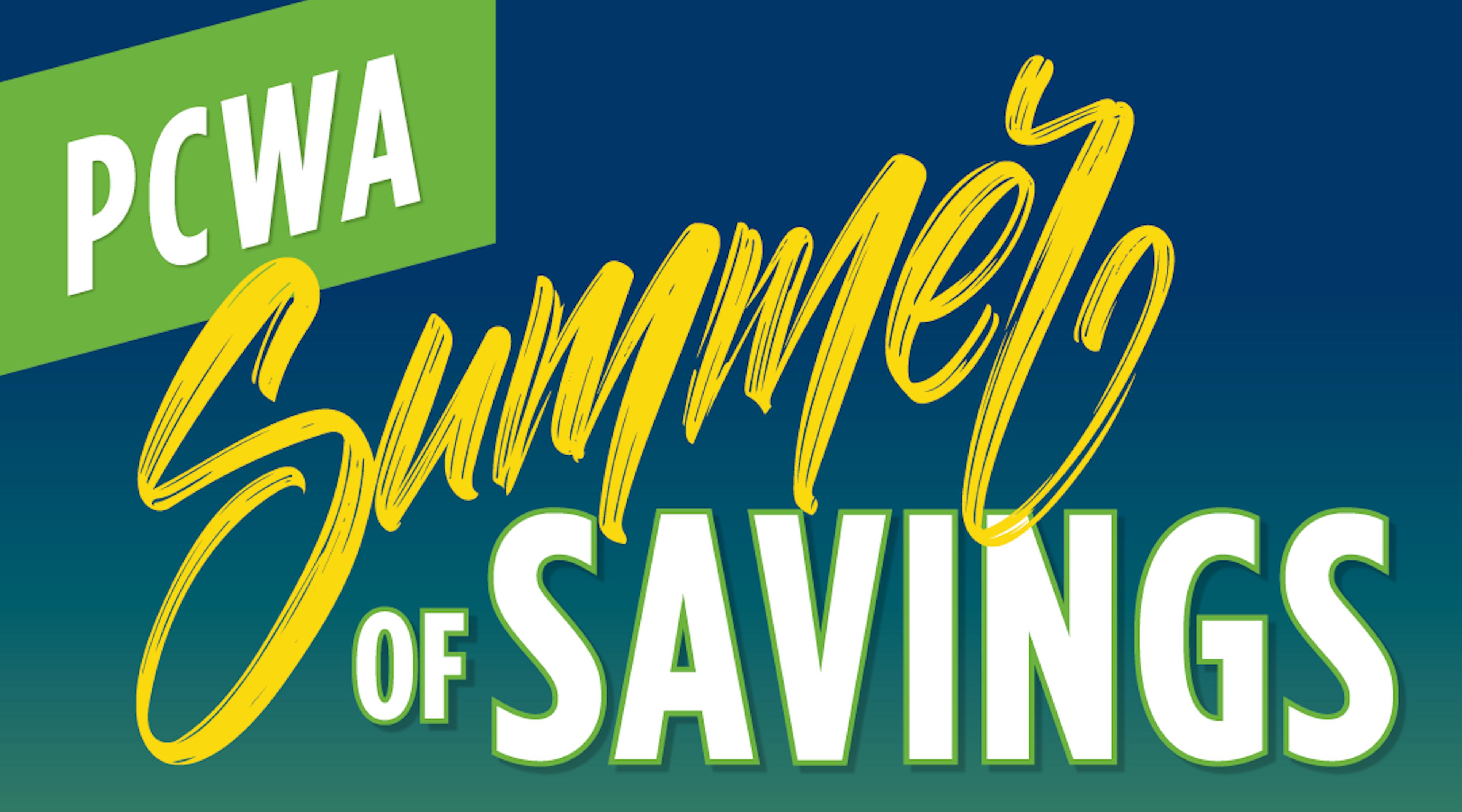 PCWA Summer of Savings banner