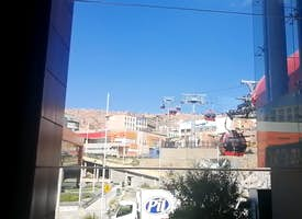 Cable Car Red and Orange - Bolivia - Live Stream's thumbnail image