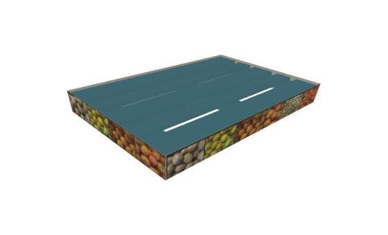 Jupe palette carton