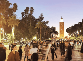 Live from Marrakech Morocco! Discover the famous Jemaa El-fna Square 's thumbnail image