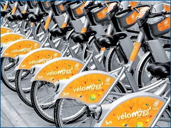 adhésif de vélo de ville