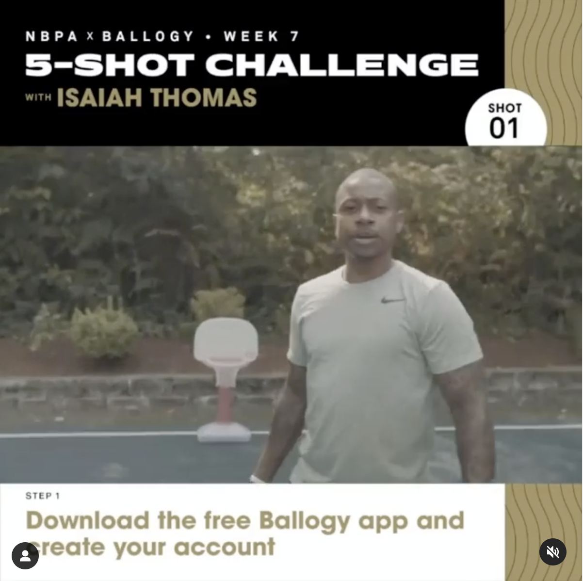 NBPA x Ballogy 5-Shot Challenge: Isaiah Thomas