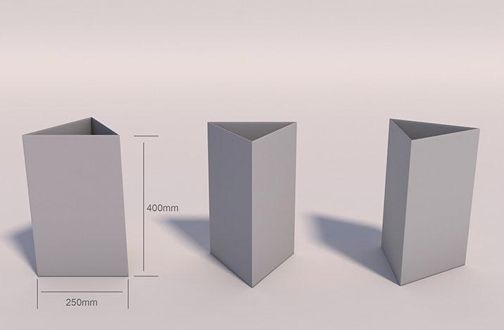 Triptyque de comptoir carton