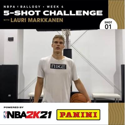 NBPA x Ballogy 5-Shot Challenge: Lauri Markkanen