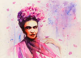 Online Mexico City Experience: Frida Kahlo Watercolour Painting Class - Private Group for 10's thumbnail image