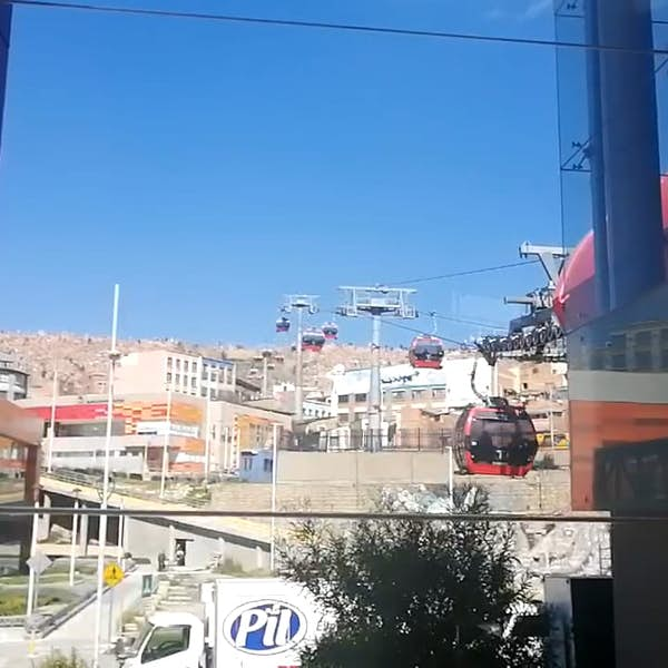 Cable Car Red and Orange - Bolivia - Live Stream's main gallery image