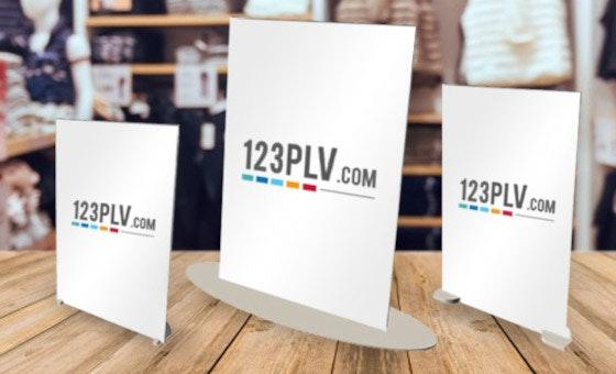PLV de comptoir PVC
