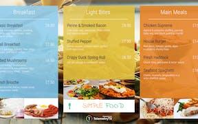 Digital Menu Board App image carousel